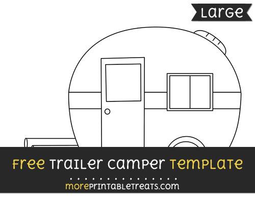 Free Trailer Camper Template - Large