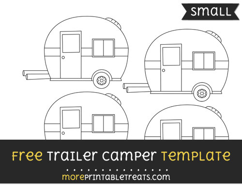 Free Trailer Camper Template - Small