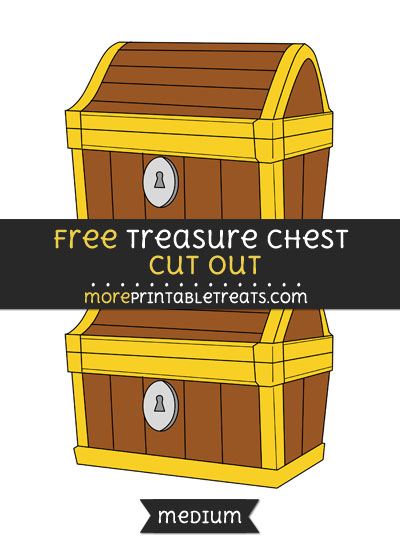 Free Treasure Chest Cut Out - Medium Size Printable