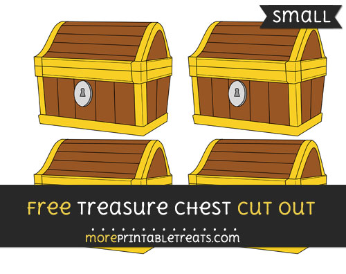 Free Treasure Chest Cut Out - Small Size Printable