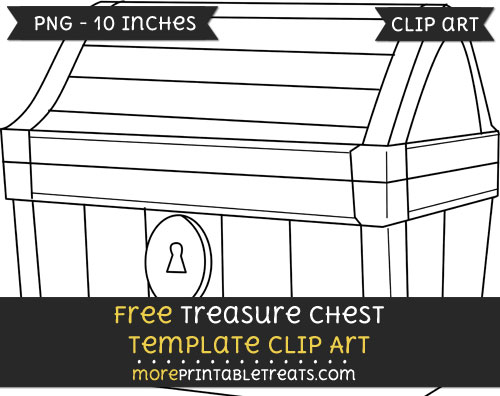 Free Treasure Chest Template - Clipart