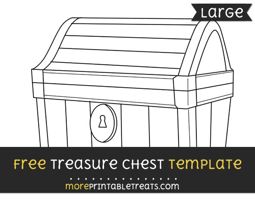 Free Treasure Chest Template - Large