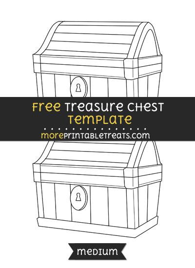 Free Treasure Chest Template - Medium