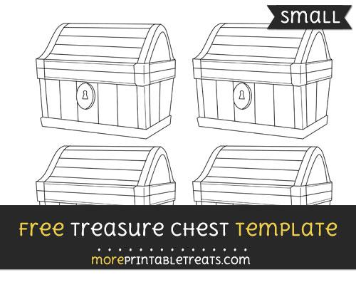 Free Treasure Chest Template - Small