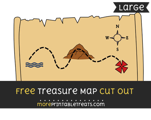 Free Treasure Map Cut Out - Large size printable