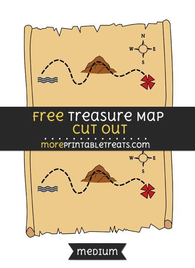 Free Treasure Map Cut Out - Medium Size Printable