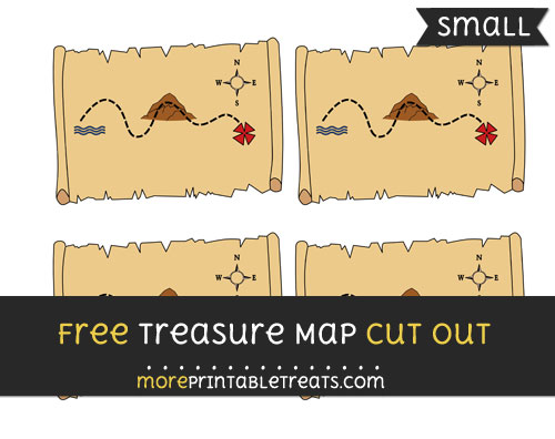 Free Treasure Map Cut Out - Small Size Printable