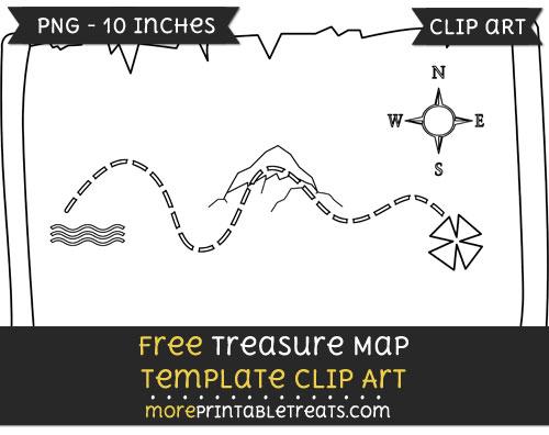 Free Treasure Map Template - Clipart