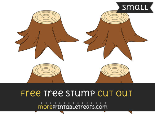 Free Tree Stump Cut Out - Small Size Printable