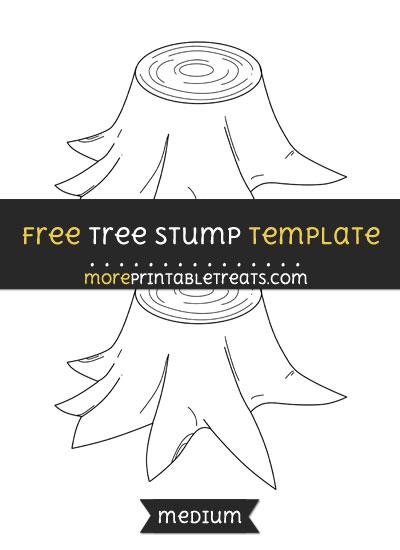 Free Tree Stump Template - Medium