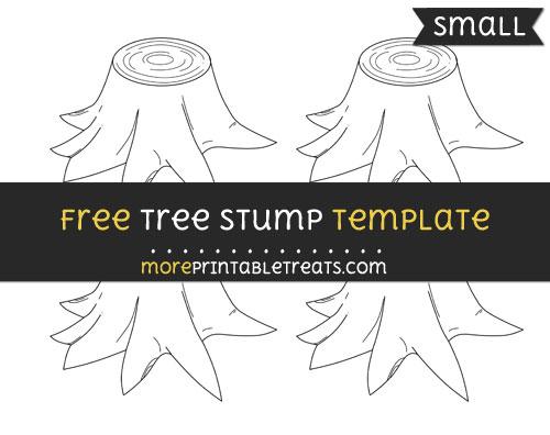 Free Tree Stump Template - Small