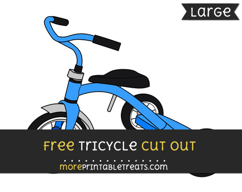 Free Tricycle Cut Out - Large size printable
