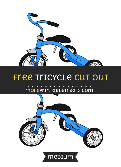 Free Tricycle Cut Out - Medium Size Printable