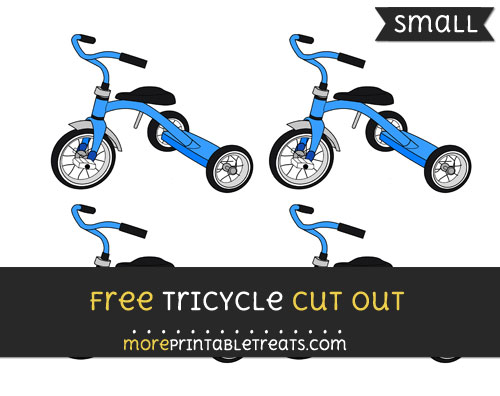 Free Tricycle Cut Out - Small Size Printable
