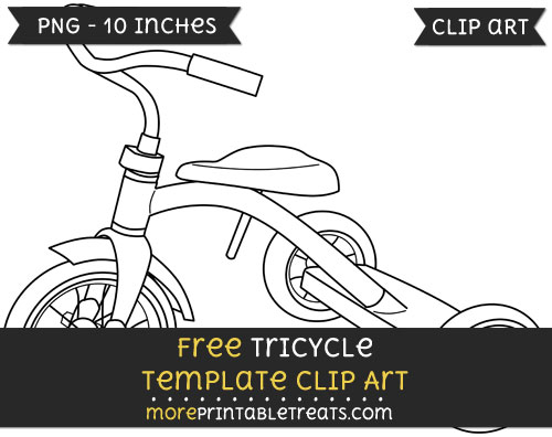 Free Tricycle Template - Clipart