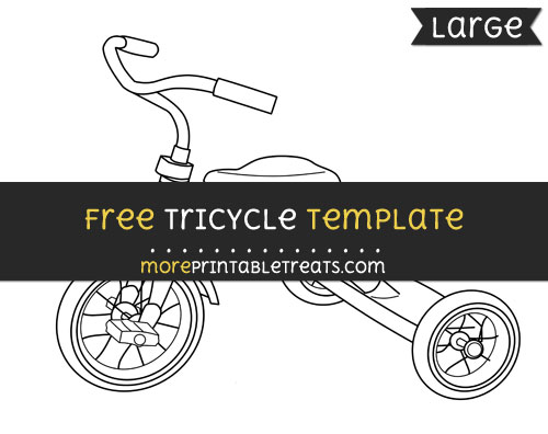 Free Tricycle Template - Large