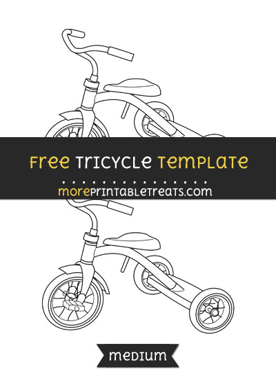 Free Tricycle Template - Medium