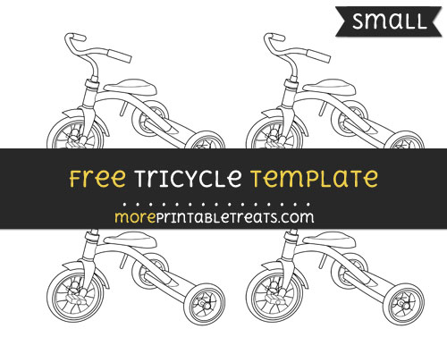 Free Tricycle Template - Small