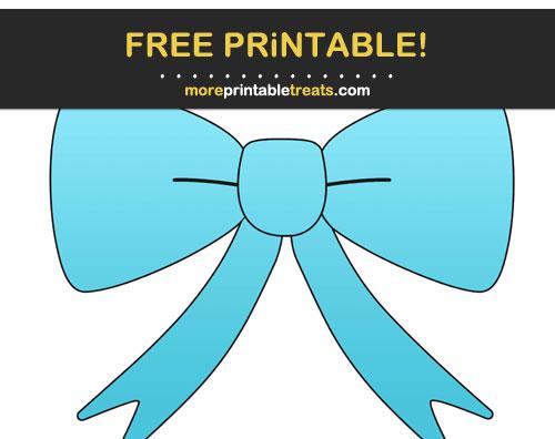 Free Printable Tropical Blue Gradient Pretty Bow