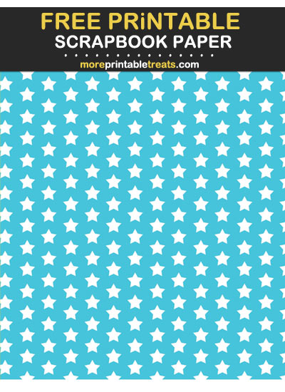 Free Printable Tropical Blue Stars Scrapbook Paper