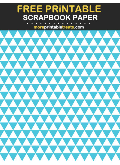 Free Printable Tropical Blue Triangles Scrapbook Paper