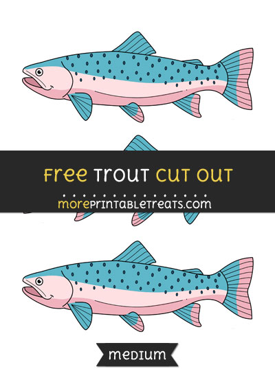 Free Trout Cut Out - Medium Size Printable