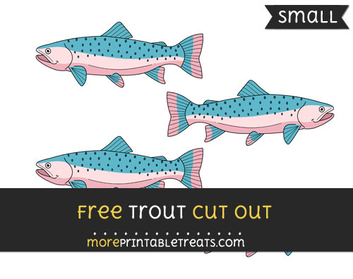Free Trout Cut Out - Small Size Printable