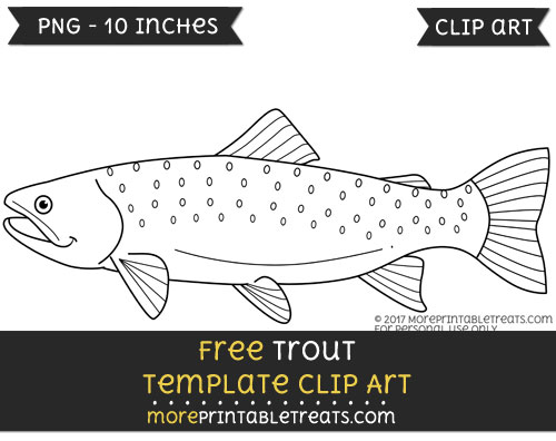 Free Trout Template - Clipart
