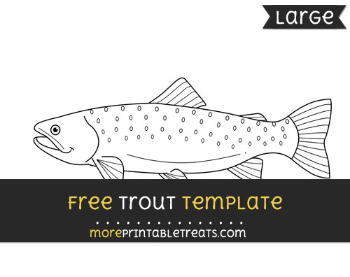 Free Trout Template - Large