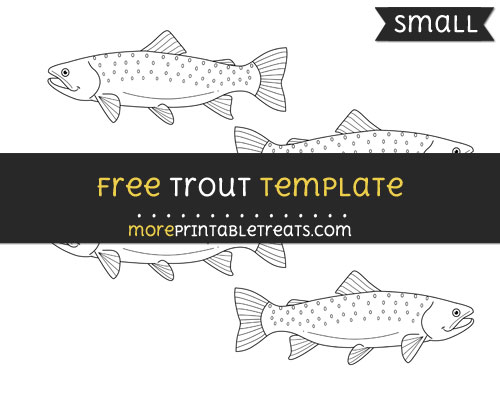 Free Trout Template - Small