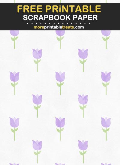 Free Printable Tulip Scrapbook Paper
