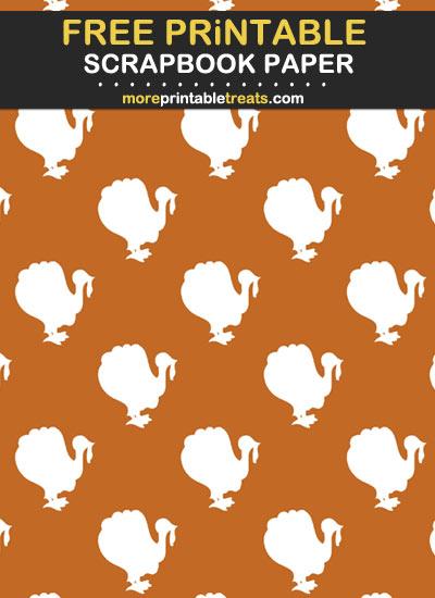 Free Printable Turkey Scrapbook Paper
