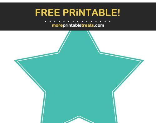 Free Printable Turquoise Star
