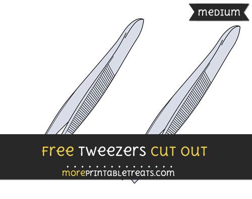 Free Tweezers Cut Out - Medium Size Printable