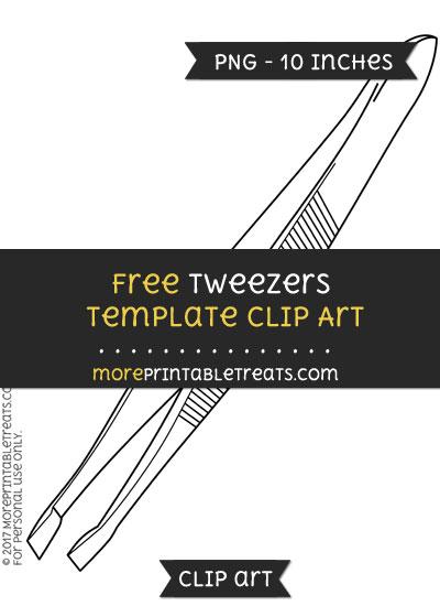 Free Tweezers Template - Clipart