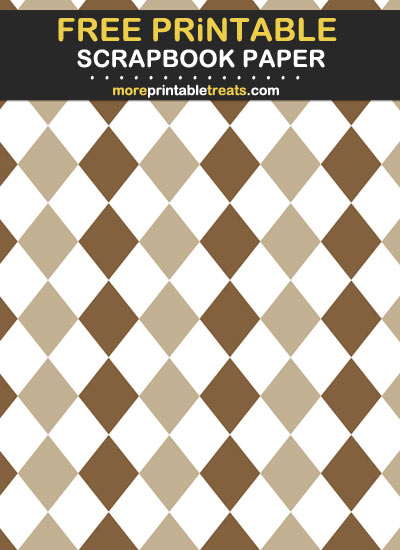 Free Printable Two Tone Brown Scrapbook Paper