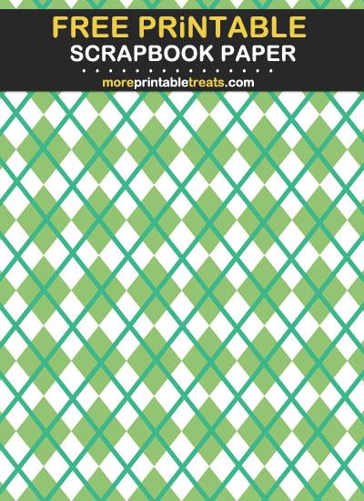 Free Printable Two Tone Green Scrapbook Paper