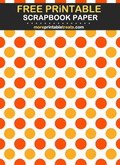 Free Printable Two Tone Orange Scrapbook Paper