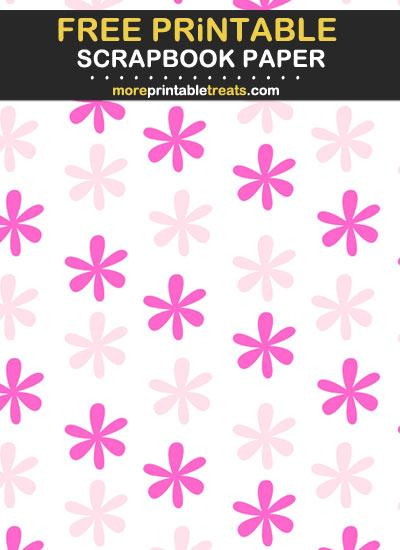 Free Printable Two Tone Pink Scrapbook Paper