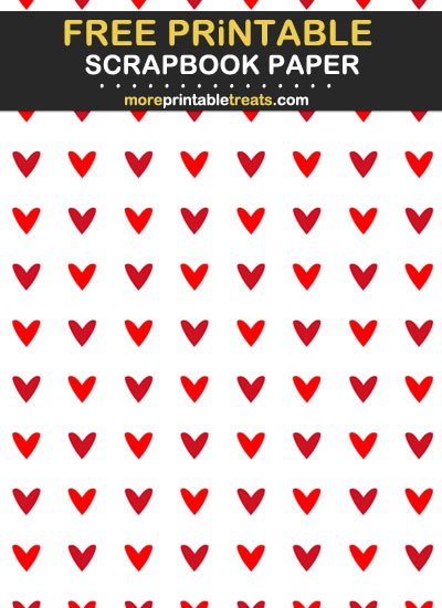 Free Printable Two Tone Red Scrapbook Paper