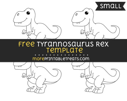 Free Tyrannosaurus Rex Template - Small