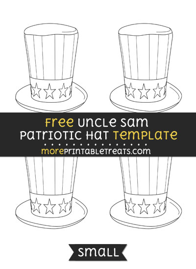 Free Uncle Sam Patriotic Hat Template - Small