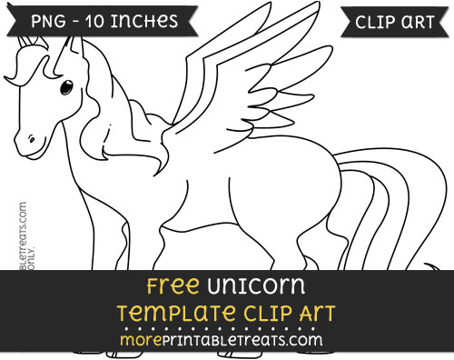 Free Unicorn Template - Clipart