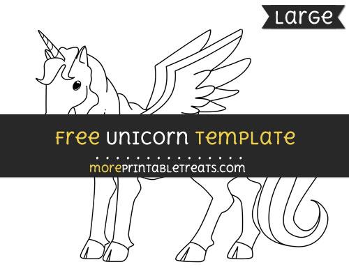 Free Unicorn Template - Large