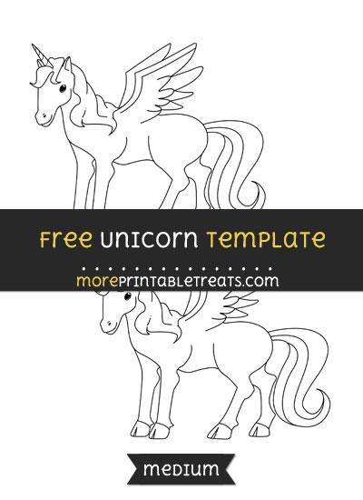 Free Unicorn Template - Medium