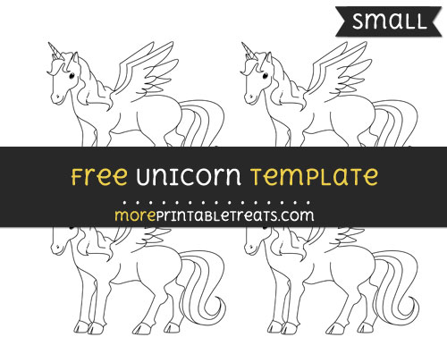 Free Unicorn Template - Small