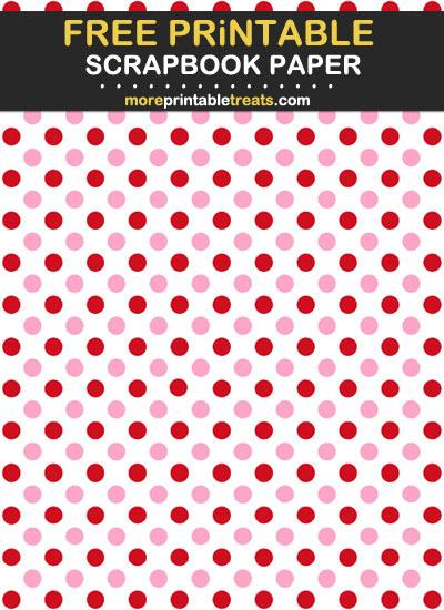 Free Printable Valentine's Day Polka Dot Scrapbook Paper