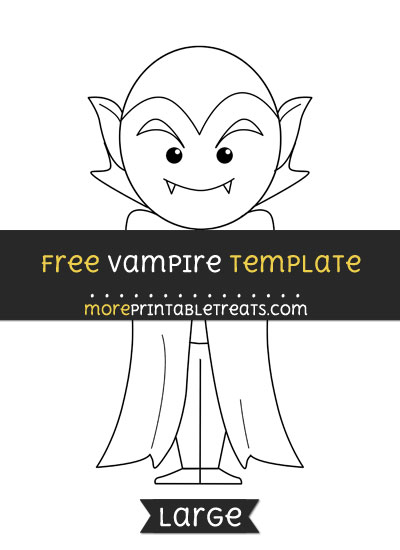 Free Vampire Template - Large