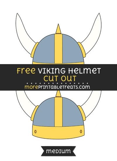 Free Viking Helmet Cut Out - Medium Size Printable
