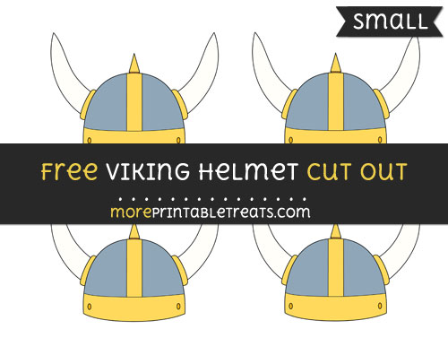 Free Viking Helmet Cut Out - Small Size Printable